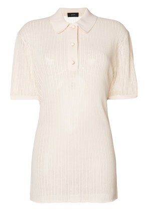 Joseph ribbed polo shirt - Nude & Neutrals