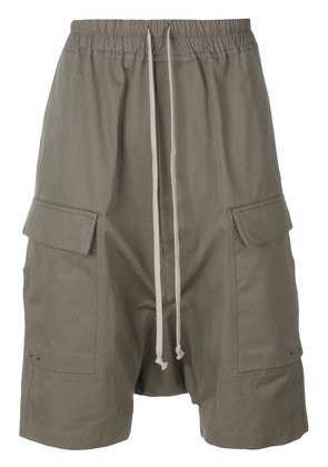 Rick Owens drop-crotch pocket shorts - Green