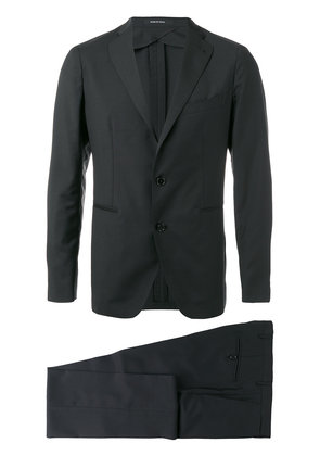 Tagliatore two piece wool suit - Black