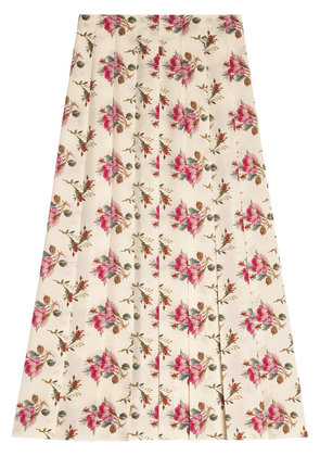 Gucci Rose print silk skirt - Pink