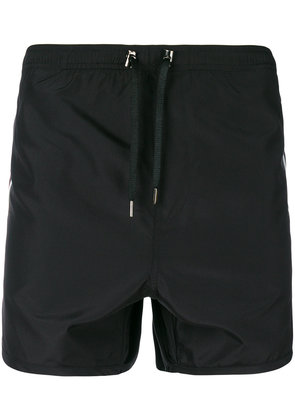 Neil Barrett stripe swim shorts - Black