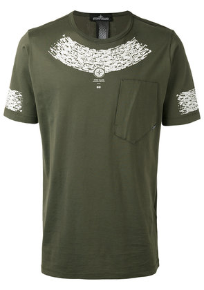 Stone Island Shadow Project printed logo T-shirt - Green