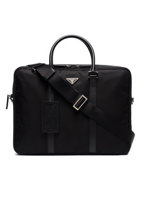Prada Double zip nylon briefcase - Black