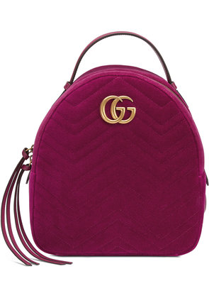 Gucci GG Marmont velvet backpack - Pink & Purple