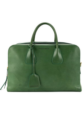 Dsquared2 double zip tote bag - Green