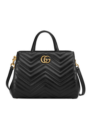 Gucci GG Marmont matelassé top handle bag - Black