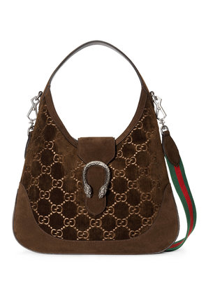 Gucci Dionysus GG velvet medium hobo - Brown