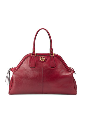 Gucci RE(BELLE) large top handle tote - Red