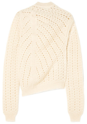 Jil Sander - Open-knit Mohair And Silk-blend Turtleneck Sweater - White