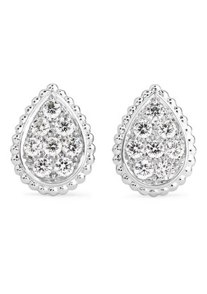 Boucheron - Serpent Bohème 18-karat White Gold Diamond Earrings - one size