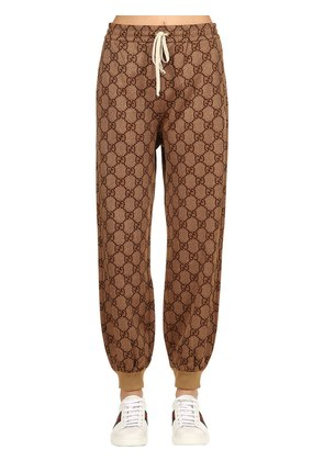 GG PRINTED JERSEY TRACK PANTS