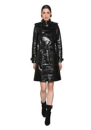 EEL LEATHER TRENCH COAT