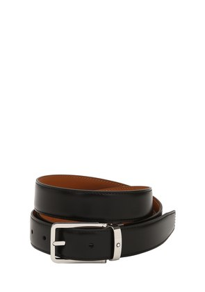 30MM RECTANGULAR LEATHER BELT