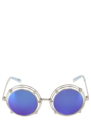 SPRING METAL ROUNDED SUNGLASSES