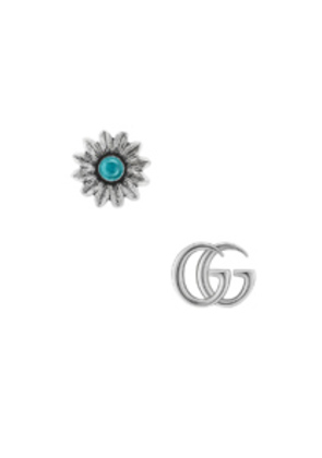 Gucci GG Marmont Mismatched Stud Earrings in Blue