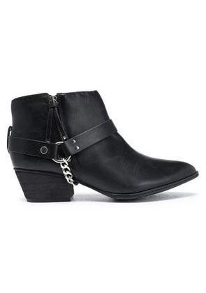 Schutz Woman Embellished Leather Ankle Boots Black Size 8
