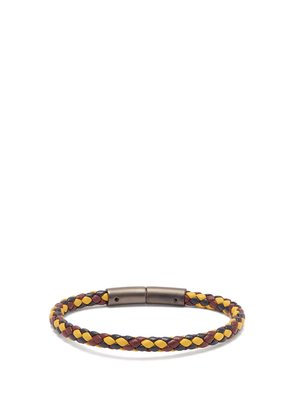 Braided-leather bracelet