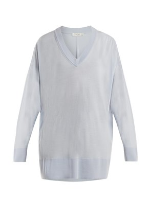 Sabrinah oversized V-neck wool sweater