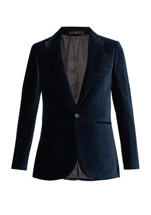Single-breasted velvet blazer