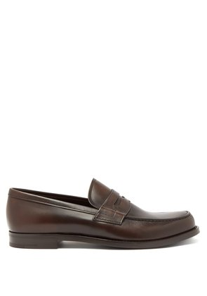 Classic leather penny loafers