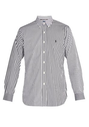 Stripe and gingham-print cotton shirt