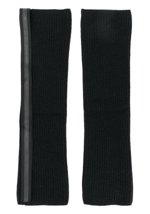 Unravel Project knit gloves - Black