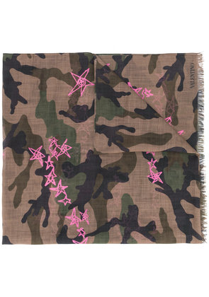 Valentino Camouflage and stars scarf - Multicolour