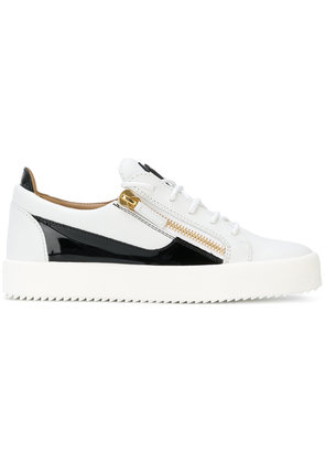 Giuseppe Zanotti Design side zip sneakers - White