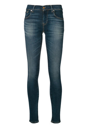 Polo Ralph Lauren high-waisted faded skinny jeans - Blue