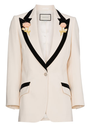 Gucci Flower embroidered wool jacket - Nude & Neutrals