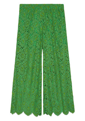 Gucci Flower lace ankle trousers - Green