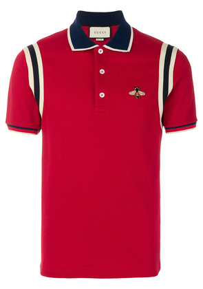 Gucci bee embroidered polo shirt