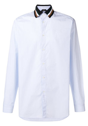 No21 contrast-collar fitted shirt - Blue