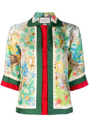 Gucci Floral Jungle shirt - Green