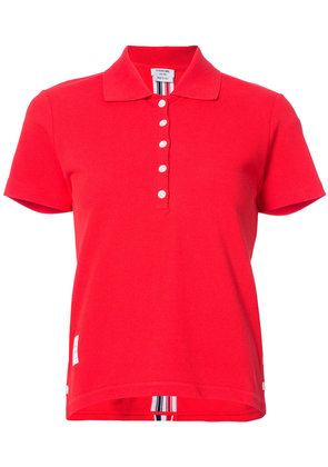 Thom Browne cropped polo shirt - Red