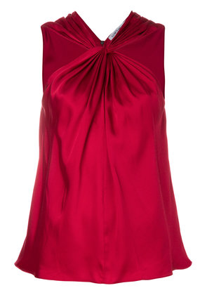 Elizabeth And James knotted front tank - Red