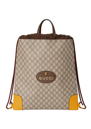 Gucci GG Supreme drawstring backpack - Nude & Neutrals