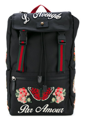 Gucci embroidered techpack - Black