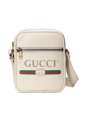 Gucci Gucci Print messenger bag - White