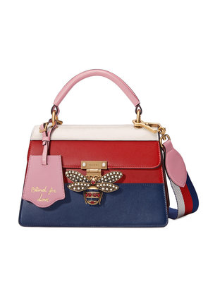 Gucci Queen Margaret leather top handle bag - Red