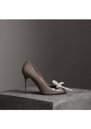 Burberry The Patent Leather Rope Stiletto, Size: 36, Grey