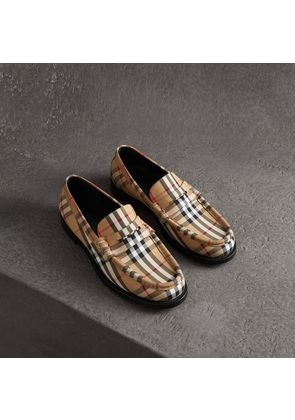 Burberry Vintage Check Cotton Loafers, Size: 40