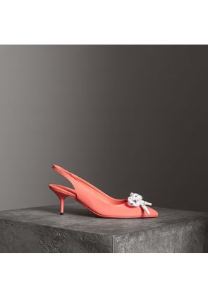 Burberry Rope Detail Patent Leather Slingback Pumps, Size: 36