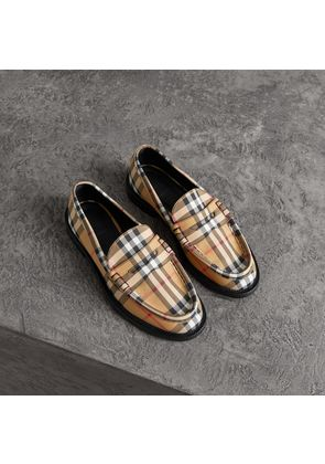 Burberry Vintage Check Cotton Penny Loafers, Size: 36