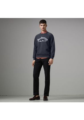 Burberry Embroidered Archive Logo Jersey Sweatshirt