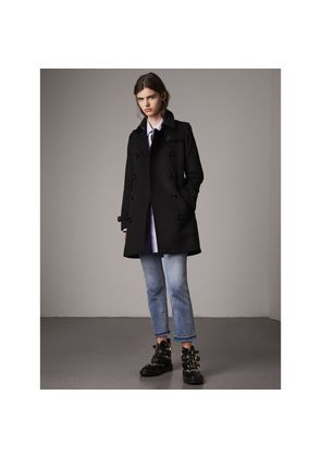 Burberry Wool Cashmere Trench Coat, Size: 02, Black
