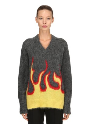FLAMES MOHAIR & WOOL KNIT SWEATER