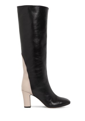80MM PORTORICO LEATHER TALL BOOTS