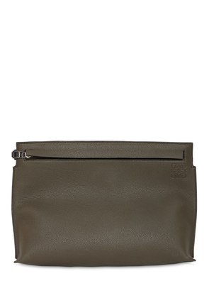 T TWO TONE LEATHER POUCH