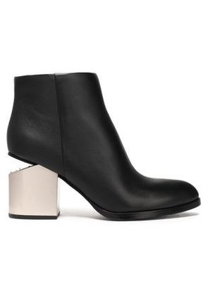 Alexander Wang Woman Two-tone Leather Ankle Boots Black Size 41